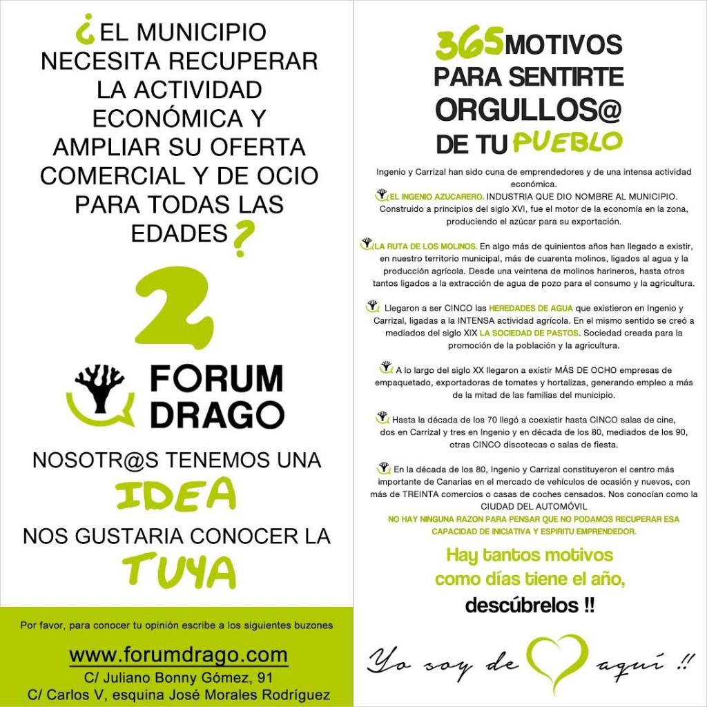 Forum Drago. 365 motivos. Economía